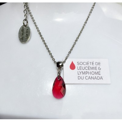 Collier court La vie en rouge