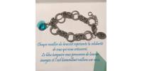 Bracelet pour femme à anneaux ronds