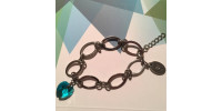 Bracelet pour femme à anneaux ovales